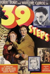 "Hitchcock, Master of Suspense film series: ""The 39 Steps"" @ Morrill Memorial Library, Simoni Room 